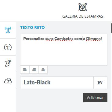 Texto – Você também pode adicionar frases ou palavras à sua estampa e  brincar com os diferentes formatos e tamanhos de textos. 3f6e10a284679