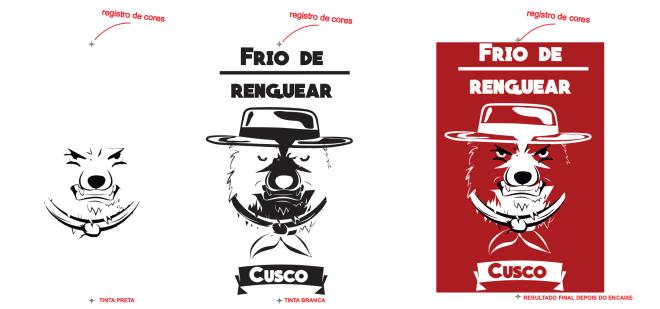 Exemplo de estampa para camiseta personalizada de cachorro com frase frio de renguear cusco