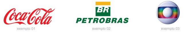 Logo da coca cola logo da petrobras e logo da rede globo como exemplo de logos para personalização para empresas