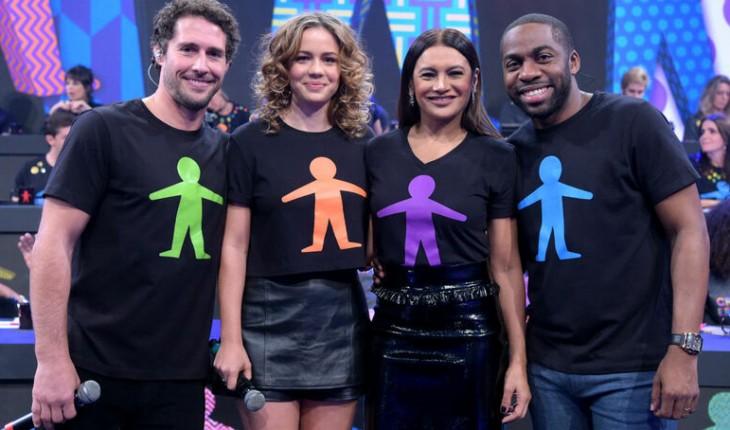 Artistas com camisetas do Criança Esperança