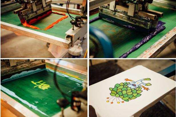 Produção de camiseta personalizada com técnica silk screen